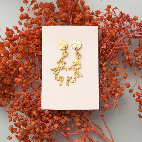 Producto Aros Coralli texturados - Joyería de autor