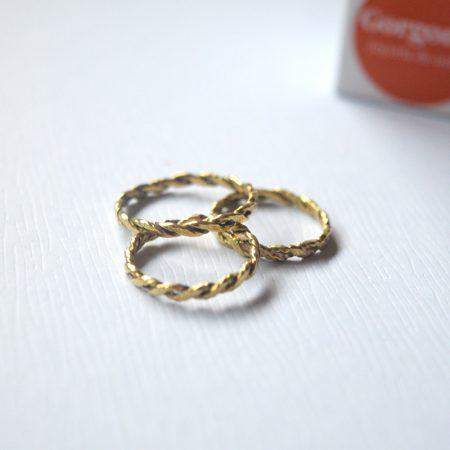 Producto Set de anillos trenzados Trini- Joyería de autor