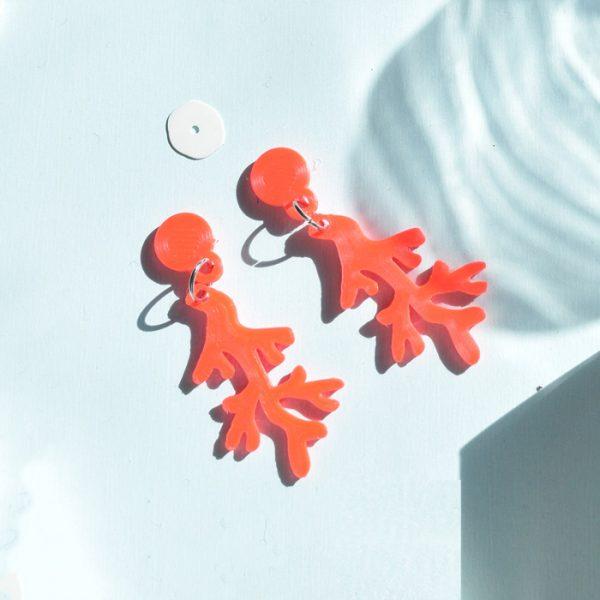 Aros Coralito Coral fluor