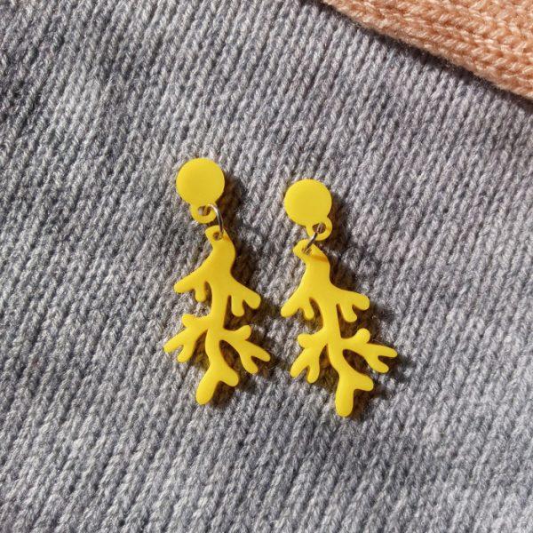 Aros Coralito Amarillo