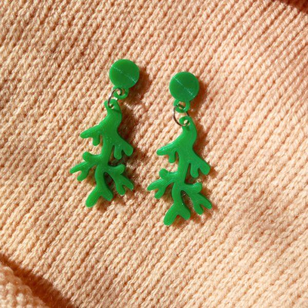 Aros Coralito Verde